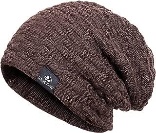 Mens Winter Baggy Slouchy Beanie Hat Trendy Warm Cable Knit Cap Men Women