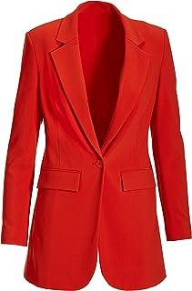 Beyond Travel - Women's One Button Knit Boyfriend Blazer