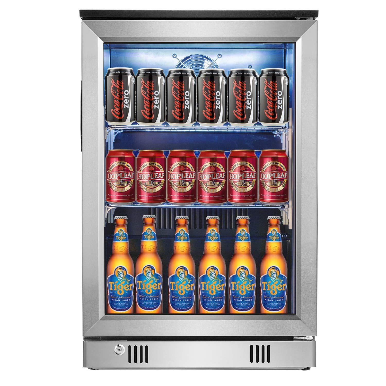 Advanics Beverage Refrigerator Lighting Stainless Steel