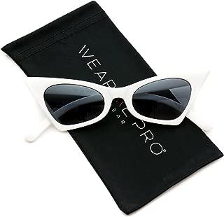 Retro Pointed Vintage Frame Design Tinted Women Cat Eye Sunglasses