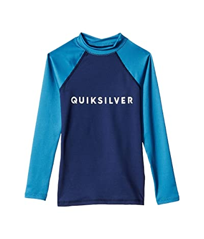 Quiksilver Kids Always There Long Sleeve Rashguard (Big Kids) (Medieval Blue) Boy