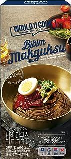 WOULD U COOK Bibim Makguksu Kit 11.71oz 1pack /Cold Buckwheat Noodles with a Sweet Spicy Sauce /Korean Food /Vegan Food