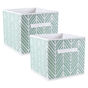 DII Foladble Fabric Storage Bins for Nursery, Offices, Home, Containers are Made to Fit Standard Cube Organizers, Small S/2, Mint