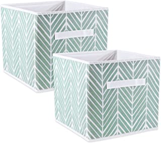 DII Foladble Fabric Storage Bins for Nursery, Offices, Home, Containers are Made to Fit Standard Cube Organizers, Small (2), Mint