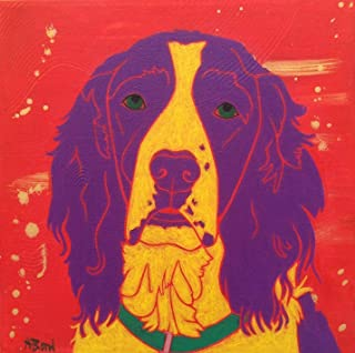 Sublime Springer Spaniel' Dog Wall Art' Colorful Dog Print by Angela Bond