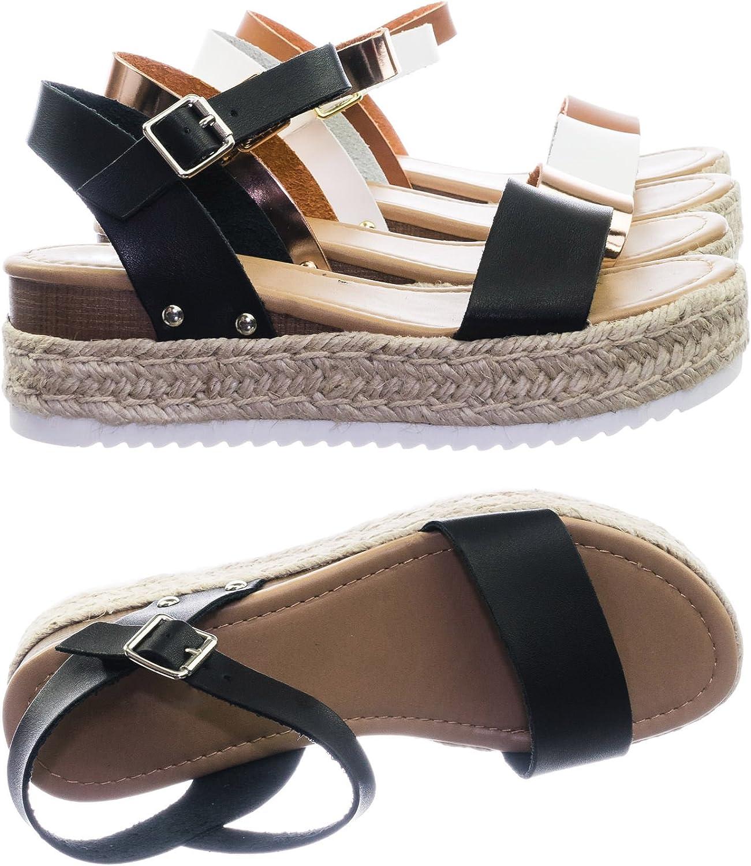 Soda Atlanta Mall Women's Open Toe New arrival Sandal Ankle Strap Espadrille