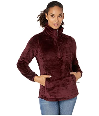 The North Face Osito 1/4 Zip Pullover (Deep Garnet Red) Women
