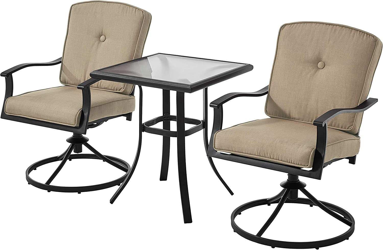 Mainstay' Patio Bistro Set Seats Outdo ! Super beauty product restock quality top! Swivel Chairs All items free shipping Cushioned 2