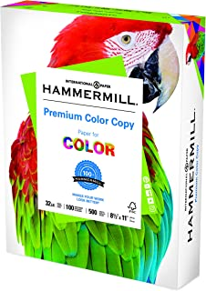 Hammermill Premium Color Copy 32lb Copy Paper, 8.5x11, 1 Ream, 500 Sheets, Made in USA, Sustainably Sourced From American ...