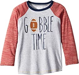 Thanksgiving Gobble Time Long Sleeve Raglan T-Shirt (Infant/Toddler)