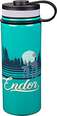 Star Wars Stainless Steel Water Bottle - Fun Retro Endor Design - Vacuum Insulated - 18 oz