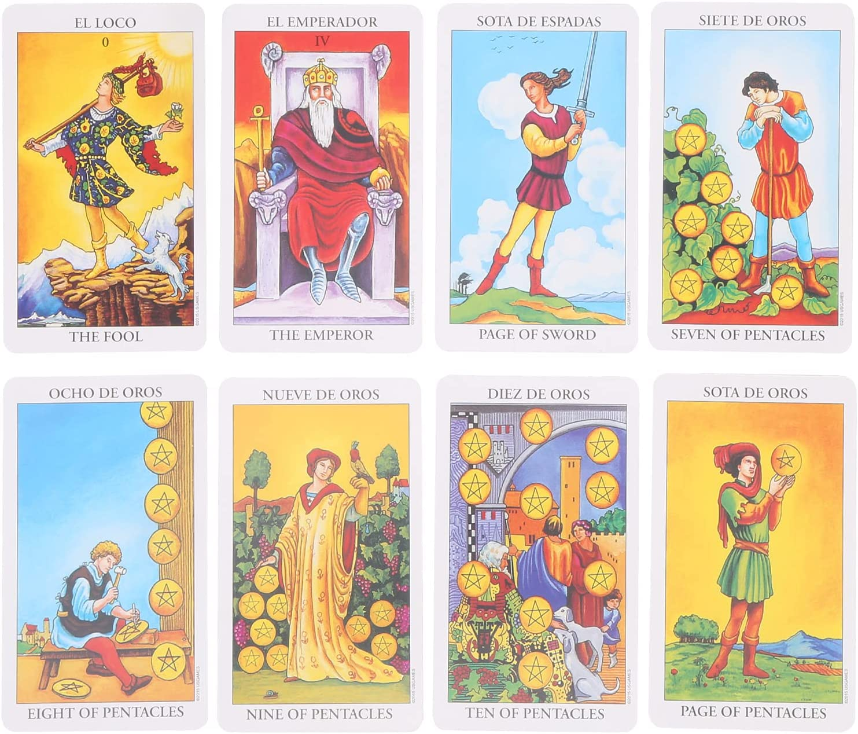 Kudoo Tarot Cards Set Classic Deck Sale item Rider Waite High quality 78 Divina