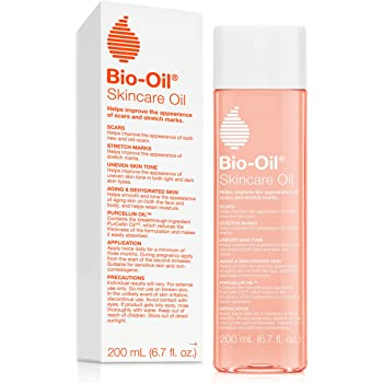 Bio-Oil Skincare Oil, 6.7 Ounce,   Body Oil for Scars and Stretchmarks, Hydrates Skin, Non-Greasy, Dermatologist Recommended, Non-Comedogenic, For All Skin Types, with Vitamin A, E