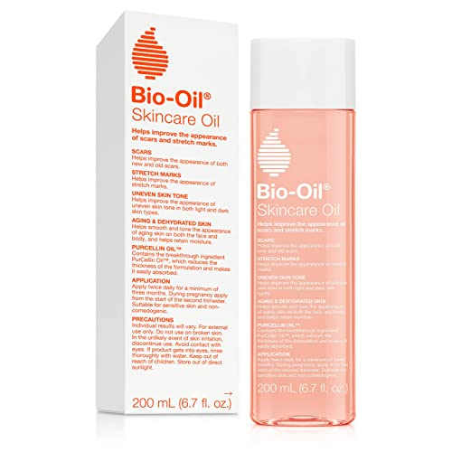 Amazon Com Bio Oil Skincare Oil 6 7 Ounce Body Oil For Scars And Stretch Marks Hydrates Skin Non Greasy Dermatologist Recommended Non Comedogenic For All Skin Types With Vitamin A E Beauty