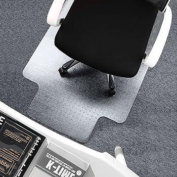 SSLine PVC Plastic Carpet Chair Mat 36 x 48 Office Desk Chair Mat Anti-Slip Lipped Chair Mat for Low and Standard Pile Carpets Transparent Carpet Floor Protector