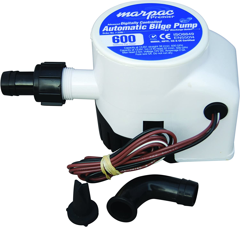 Marpac BILGE PUMP 32-47259-2M outlet AUTO 800GPH Gifts