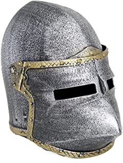 Kid's Plastic Medieval Knight Helmet w/ Flip Up Mask