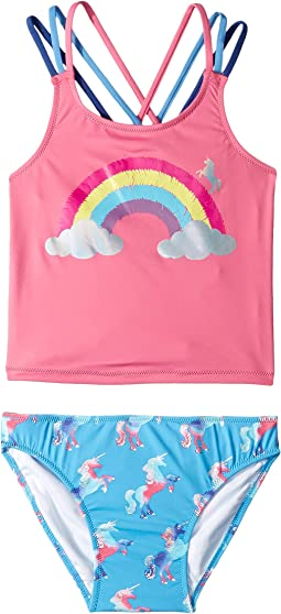 Rainbow Unicorns Sporty Tankini Set (Toddler/Little Kids/Big Kids)