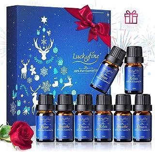 Aceites Esenciales para Humidificador 100% Natural Puro Aromaterapia Aceite Aromático 8 x 10 ml (Lavanda Hierba de Limó...