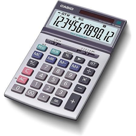 カシオ 本格実務電卓 12桁 グリーン購入法適合 ジャストタイプ JS-200W-N