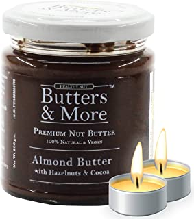 Butters & More Vegan Almond Butter with Hazelnuts, Dark Cocoa & Organic Palm Jaggery (200G). Healthy Chocolate Spread. wit...