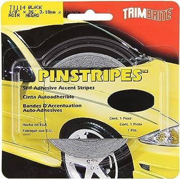 6 Trimbrite T1114 1//8 Pinstripe Tape Black