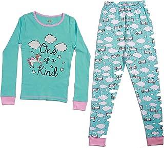 Just Love Pijamas para niñas de algodón ajustado para niñ