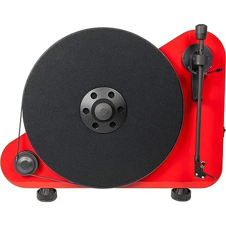 Pro Ject Vt E R Bt Vertikaler Plug Play Plattenspieler Mit Bluetooth Rechtshänder Rot Audio Hifi