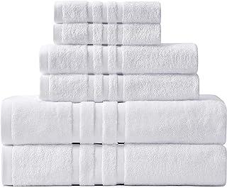 Hoimann 6 Piece Hotel Quality Bath Towel Set, 2 Oversized 750 GSM Bath Towels 2 Hand Towels 2 Washcloths , 100% Cotton Qui...