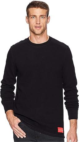 Long Sleeve Waffle Crew Neck Shirt