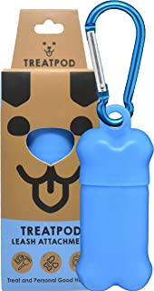 TreatPod Treat Holder for Leash - Spill Free Storage Container and Dog Training Pouch