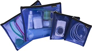 Travelon Set of 4 Mesh Pouches, Blue, 9.5 x 12.75 x 0.5