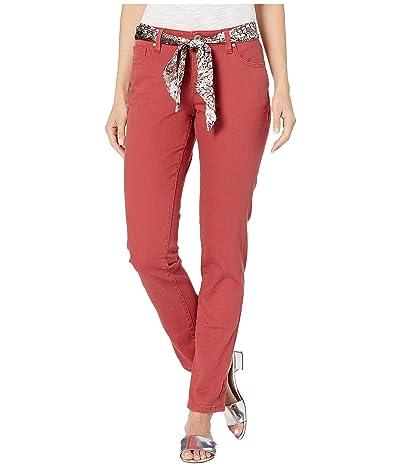 Jag Jeans Carter Girlfriend Jeans with Satin Belt (Redwood) Women