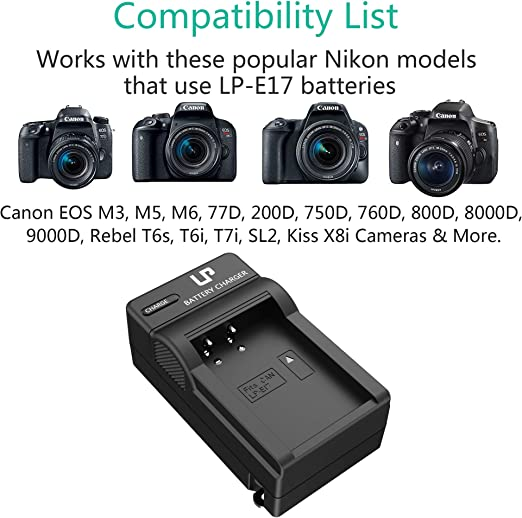 research.unir.net LPE17 Battery Charger for Canon EOS 850D 9000D ...
