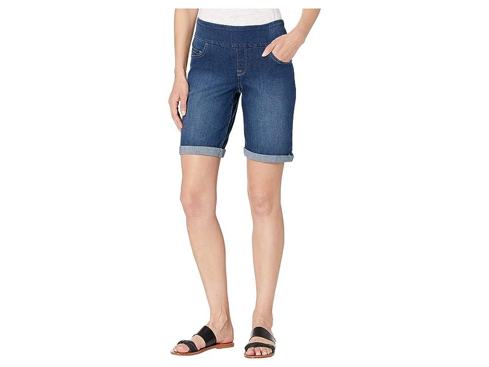 Per Se Wide Waist Five-Pocket Denim Shorts (Medium Wash) Women's Shorts