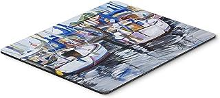 Caroline's Treasures JMK1054MP Sailboats Mouse Pad, Hot Pad or Trivet, Large, Multicolor