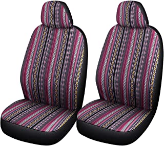 SOBONITO Colorful Seat Covers for Car Front Seats Only-Bohemian Style Seat Covers,Universal Fit (FR-F)