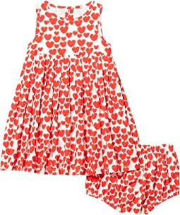 All Over Hearts Sleeveless Dress (Infant)