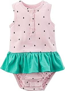 Baby Girls' Watermelon Sunsuit 24 Months, Green/Pink