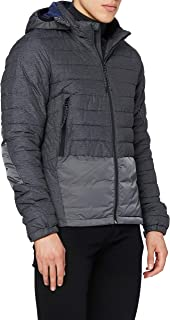 Scotch & Soda Men's Short Quilted Nylon Jacket with Detachable Hood