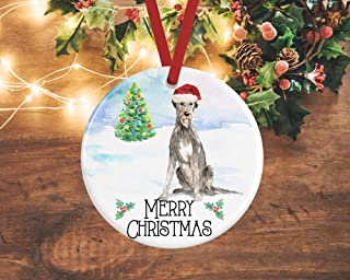 Best DONL9BAUER Irish Wolfhound Ornament Irish Wolfhound Christmas Decoration Personalised Dog Decoration Wolfhound Presents Pet Memorial Review