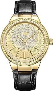 JBW Wrist Watch for Women Diamond Inlay 16 Piece, Leather,J6345C