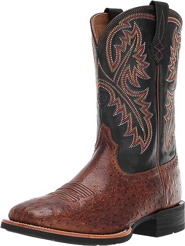Ariat Men's Quickdraw Western Stiefel, Matte braun Smooth Quill Ostrich, 8.5 2E US