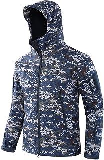 Memoryee Uomo Tattico Camouflage Softshell Giacca Outdoor Militare Pile Fodera Impermeabile Antivento Giubbotto con Cappuccio