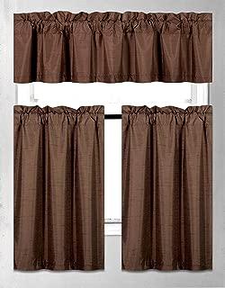 Best dark brown kitchen curtains Reviews