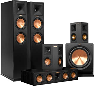 Klipsch RP-260F Home Theater System Bundle (Ebony) with Yamaha RX-A860