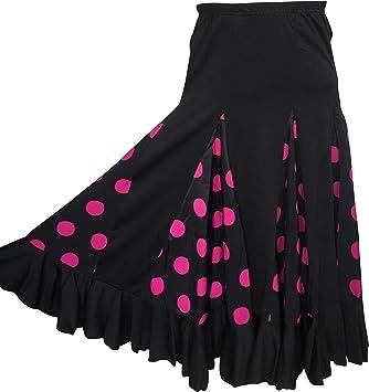 La Se/ñorita Falda Flamenco S/évillane ni/ña Rosa con Puntos Negro
