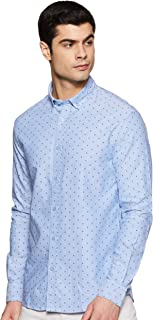Celio Mens Button Down Collar Printed Shirt