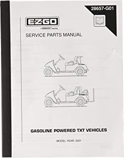 EZGO 28657G01 2001 Service Parts Manual for Gas TXT Golf Cars