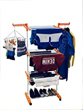 TNC Nextgen Three Layer Cloth Drying Stand Plastic Floor Cloth Dryer Stand